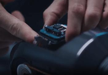 Exchange of sensor in radiation tolerant camera
